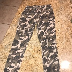 High Rise Camo Jeans